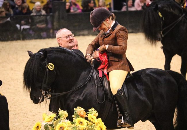 Rebecca Penny & Our Honorary President Simmon Richardson at HOYS